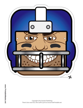 Football Mask Printable Mask