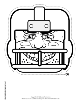 Football Mask to Color Printable Mask