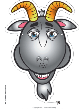 Goat Mask Printable Mask