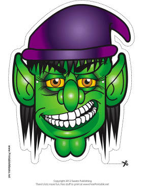 Female Goblin Mask Printable Mask