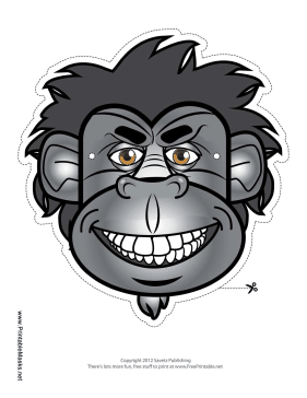 Gorilla Mask Printable Mask