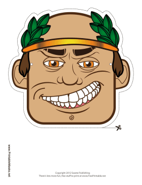 Male Greek Mask Printable Mask