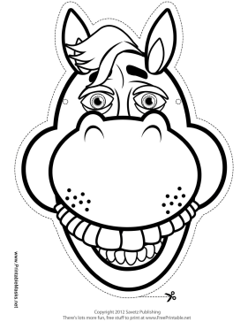 Horse Mask to Color Printable Mask