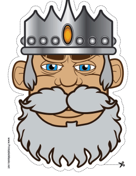 King Mask Printable Mask