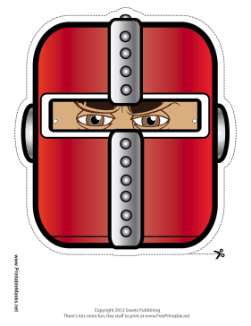 Knight Mask Printable Mask