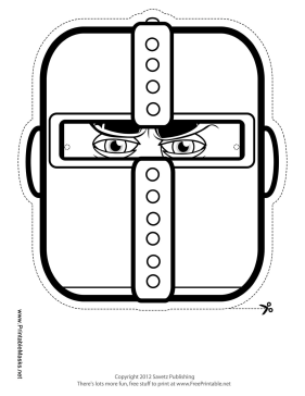 Knight Mask to Color Printable Mask