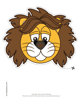 photograph relating to Printable Lion Masks named Printable Lion Mask Mask