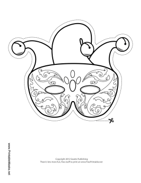 picture regarding Printable Mardi Gras Masks identified as Printable Mardi Gras Competition Mask toward Shade Mask