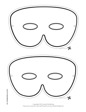 Printable simple mardi gras mask to color mask simple mardi gras mask to color printable mask pronofoot35fo Images