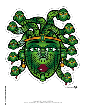 Medusa Mask Printable Mask