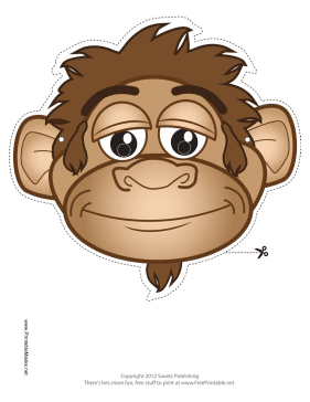 image regarding Monkey Mask Printable called Printable Monkey Mask Mask