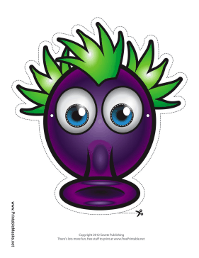 Silly Monster Mask Printable Mask