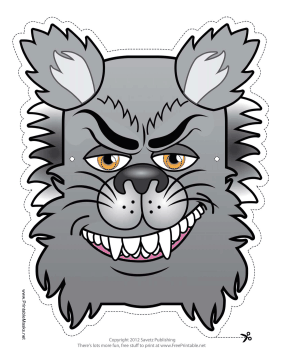 Wolfman Monster Mask Printable Mask