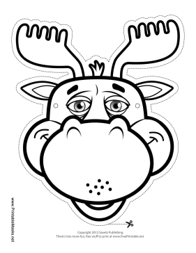 image regarding Moose Template Printable referred to as Printable Moose Mask in the direction of Coloration Mask