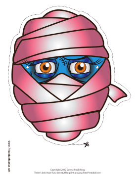 Female Mummy Mask Printable Mask