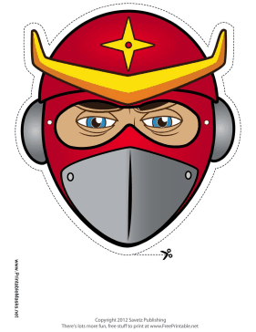 Ninja Star Mask Printable Mask
