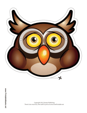 Owl Mask Printable Mask