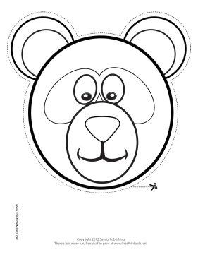Panda Mask to Color Printable Mask