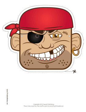 Bandana Pirate Mask Printable Mask