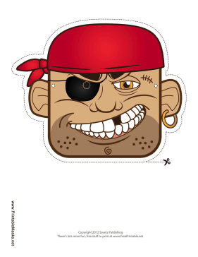 Pirate Crew Mask Printable Mask
