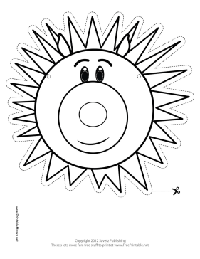 Porcupine Mask to Color Printable Mask