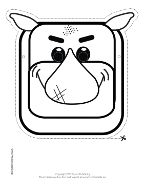 Rhino Mask to Color Printable Mask