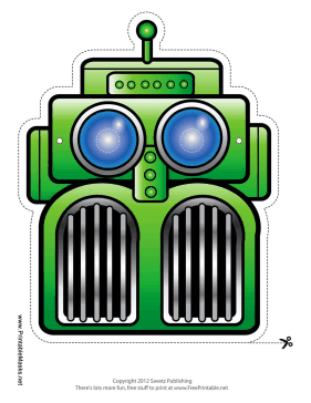 Awesome Robot Mask Printable Mask