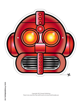 Cool Robot Mask Printable Mask