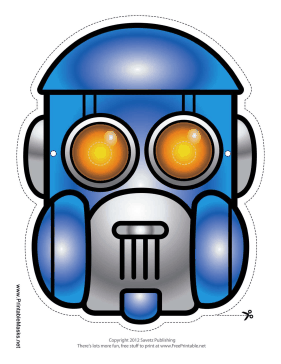 Robot Dome Mask Printable Mask