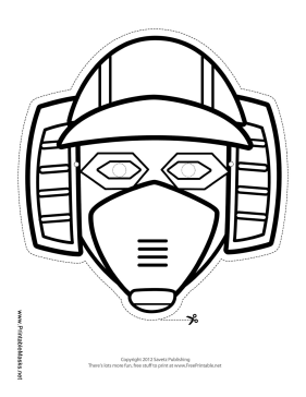 Horizontal Robot Mask to Color Printable Mask