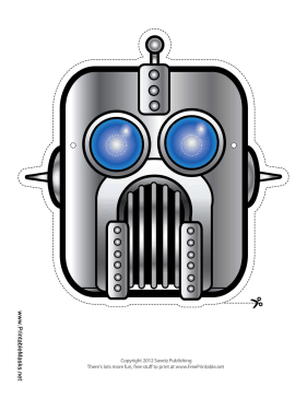 Robot Mask Printable Mask
