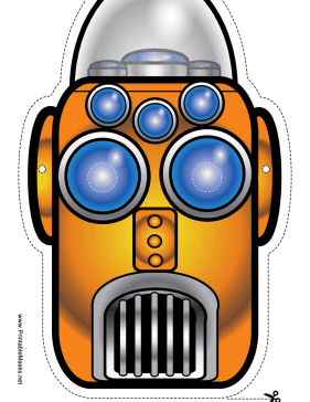 Narrow Robot Mask Printable Mask