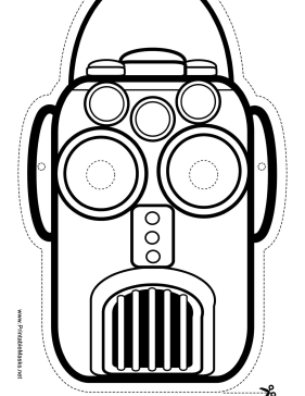 Narrow Robot Mask to Color Printable Mask