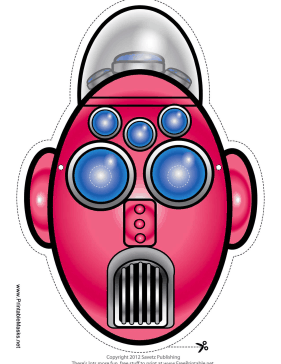 Tall Oval Robot Mask Printable Mask