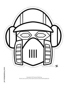 Vertical Robot Mask to Color Printable Mask