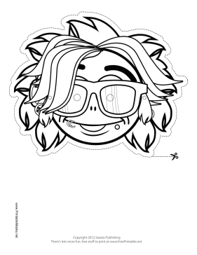 Rockstar Mask to Color Printable Mask