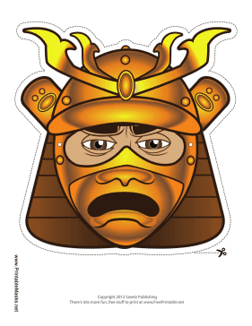 Male Samurai Mouth Mask Printable Mask
