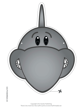 Shark Mask Printable Mask
