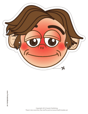 Shy Mask Printable Mask