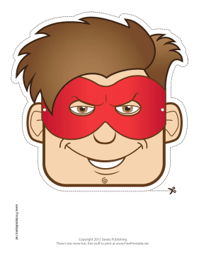 Male Superhero Mask Printable Mask