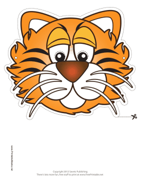 Tiger Mask Printable Mask