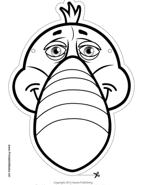 Toucan Mask to Color Printable Mask