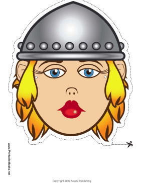 Female Viking Mask Printable Mask