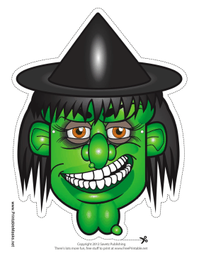 Witch Hat Mask Printable Mask