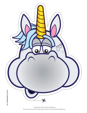 photograph about Printable Unicorn Mask identify Printable Anxious Unicorn Mask Mask