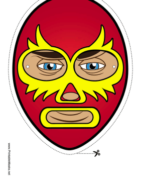 Elaborate Wrestler Mask Printable Mask