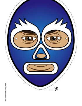 Wrestler Mask Printable Mask