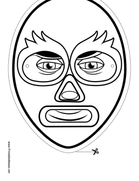 Wrestler Mask to Color Printable Mask