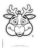 Deer Mask to Color Printable Mask