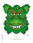 Asian Dragon Mask Printable Mask